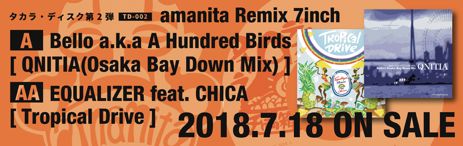 Bello a.k.a A Hundred Birds / EQUALIZER feat. CHICA [ amanita Remix 7inch ] (TD-002)