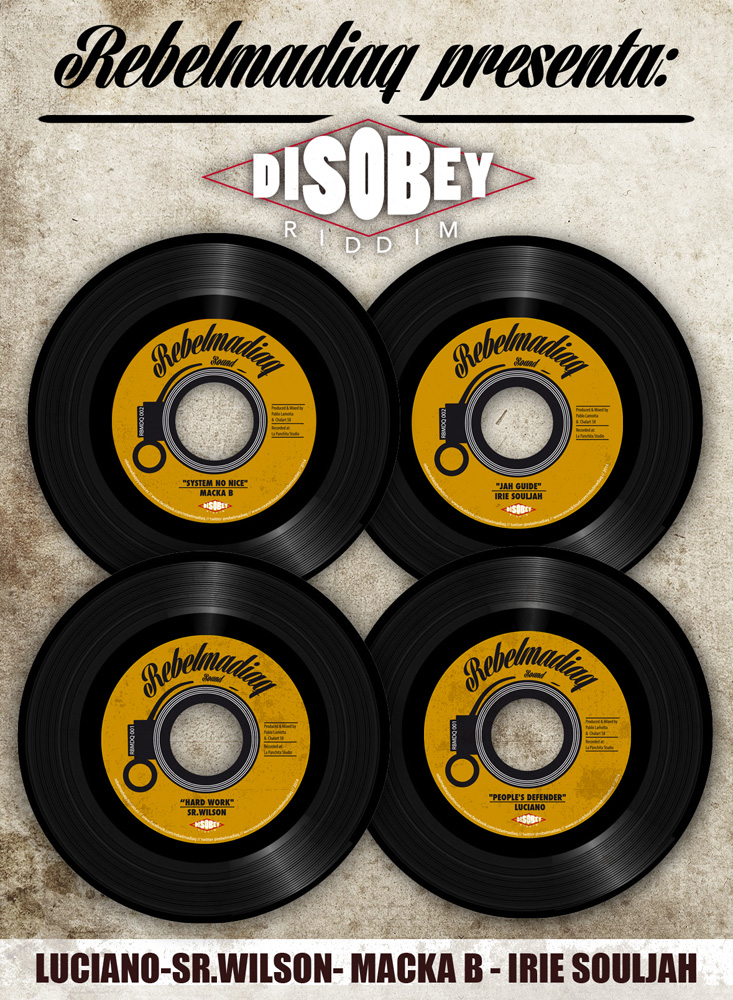 [ RBMDQ 001/002 ] Rebelmadiaq Sound Presents [ Disobey Riddm 7inch Set ]